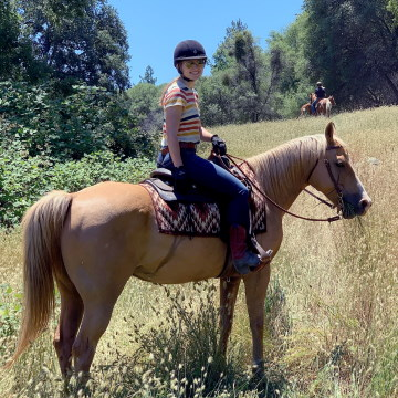 Riding on the trail