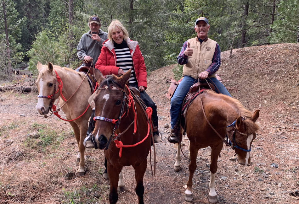 Guests on horseback