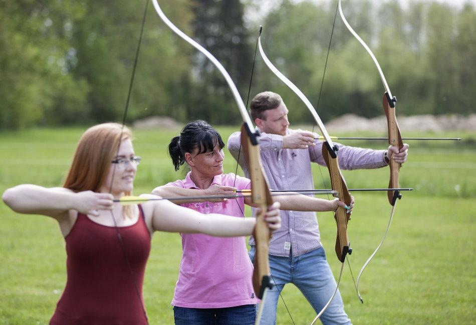 Take aim on the archery range